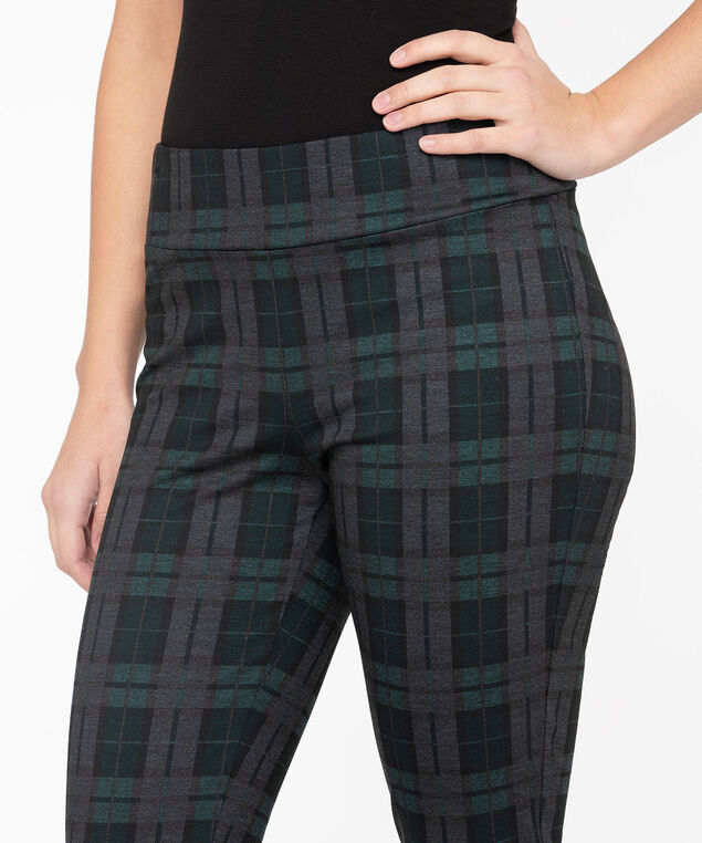Black Watch Plaid Legging, Charcoal/Deep Green/Black, hi-res