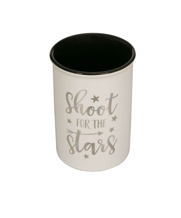Starry Decorative Holder Cup, White/Silver/Black, hi-res