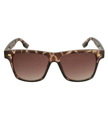 Tortoise Print Wayfarer Sunglasses, Brown/Gold, hi-res