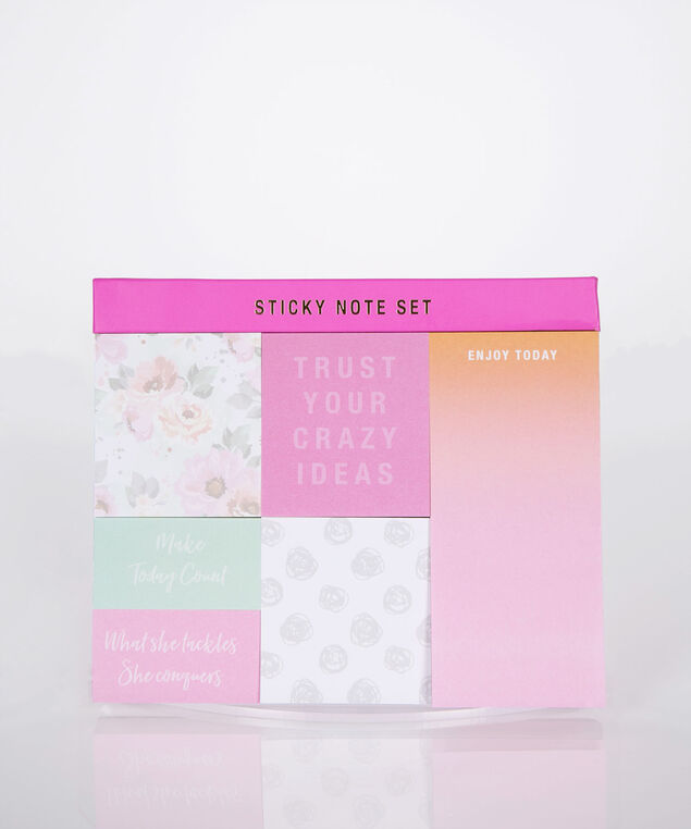 Crazy Ideas Sticky Note Set, Pink, hi-res