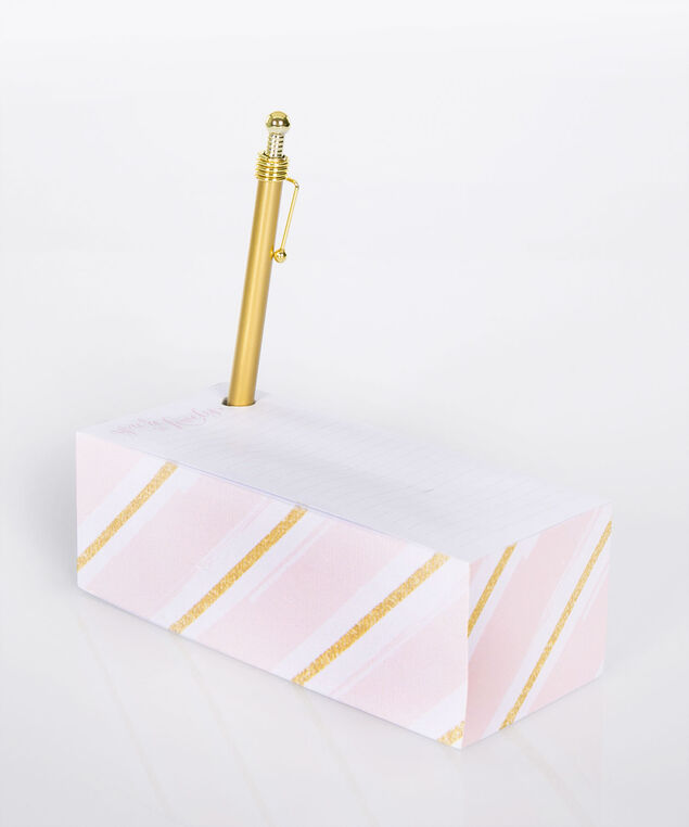 You're So Lovely Block Memo Pad Set, Pink/Gold/White, hi-res