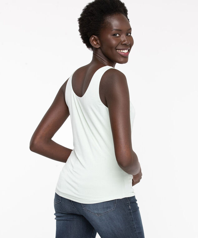 Double Layer Built Up Cami, Ivory
