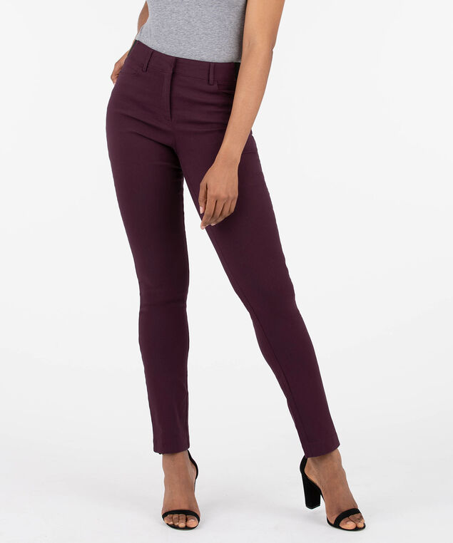 Microtwill Fly Front Slim Leg - Short/Long, Plum, hi-res