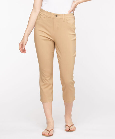Microtwill Pull-On Crop Pant, Nomad, hi-res