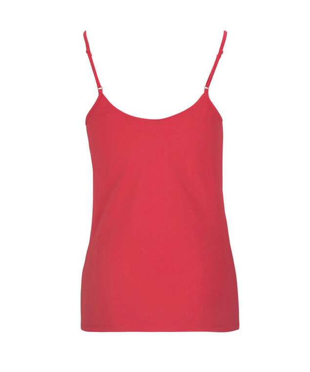 Strappy Ruched Neck Cami, Coral Reef, hi-res