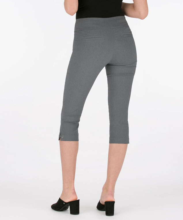 Side-Tab Microtwill Capri Pant, Heather Grey, hi-res