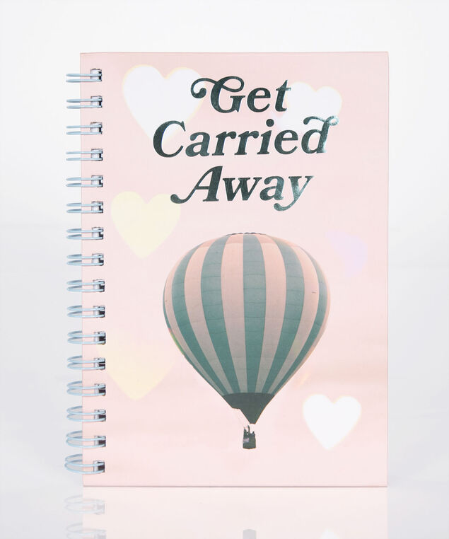 Get Carried Away Spiral Notebook, Fuzzy Peach/Blue, hi-res