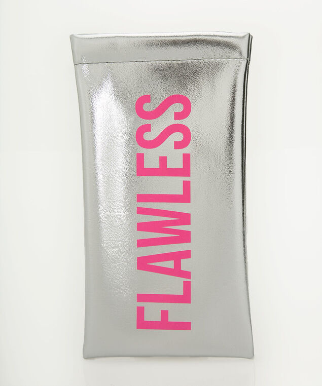 Flawless Sunglass Case, Silver/Hot Pink, hi-res