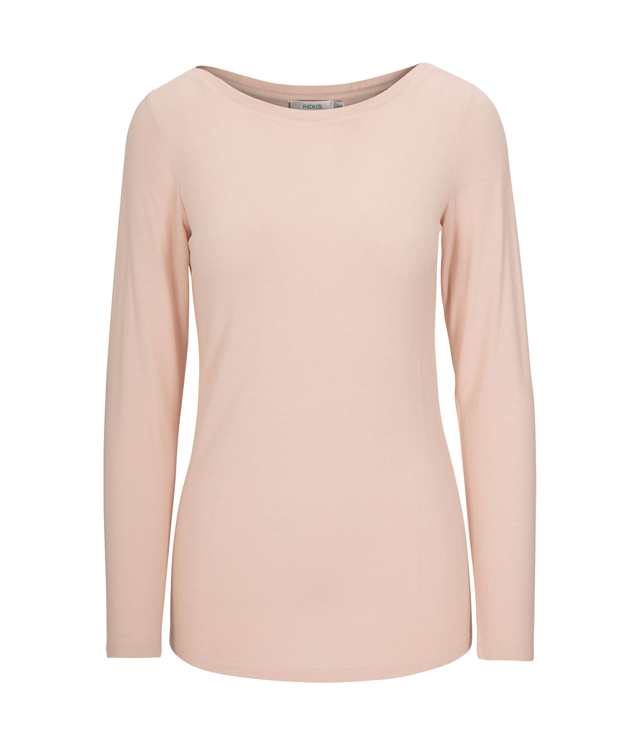 150b714a27 Boatneck Layering Essential Top | Pale Pink | Rickis