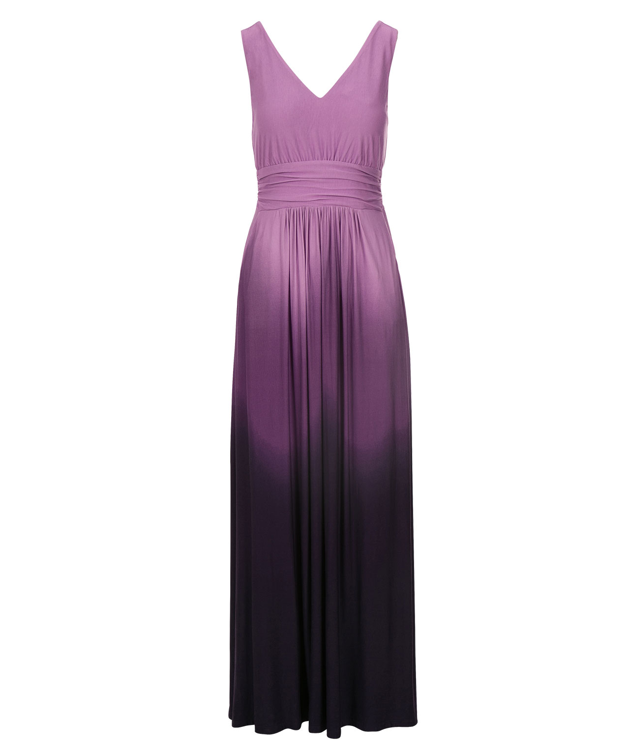Ruched Waist Ombre Maxi Dress | Rickis