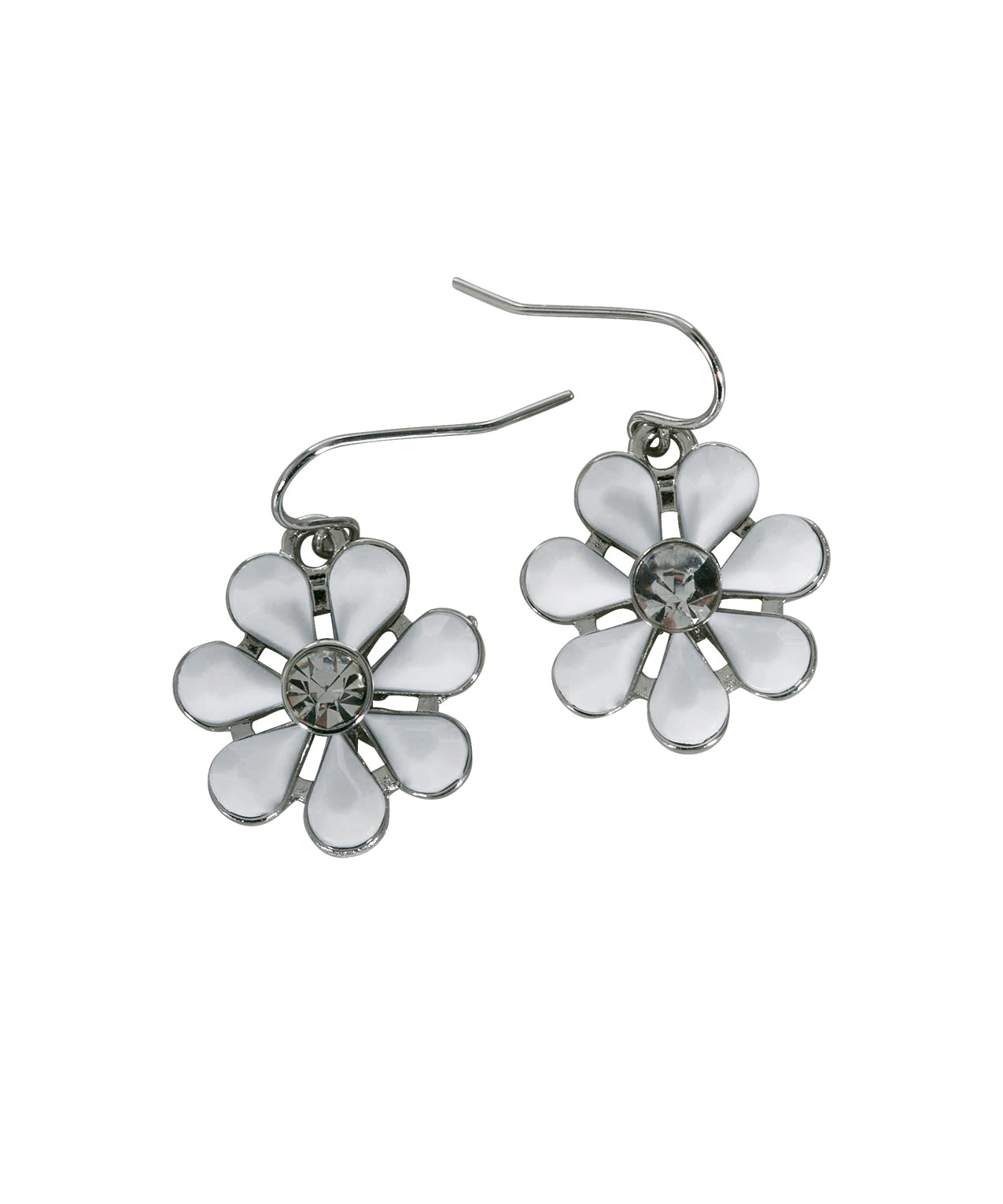 White Floral Statement Necklace Set Rickis