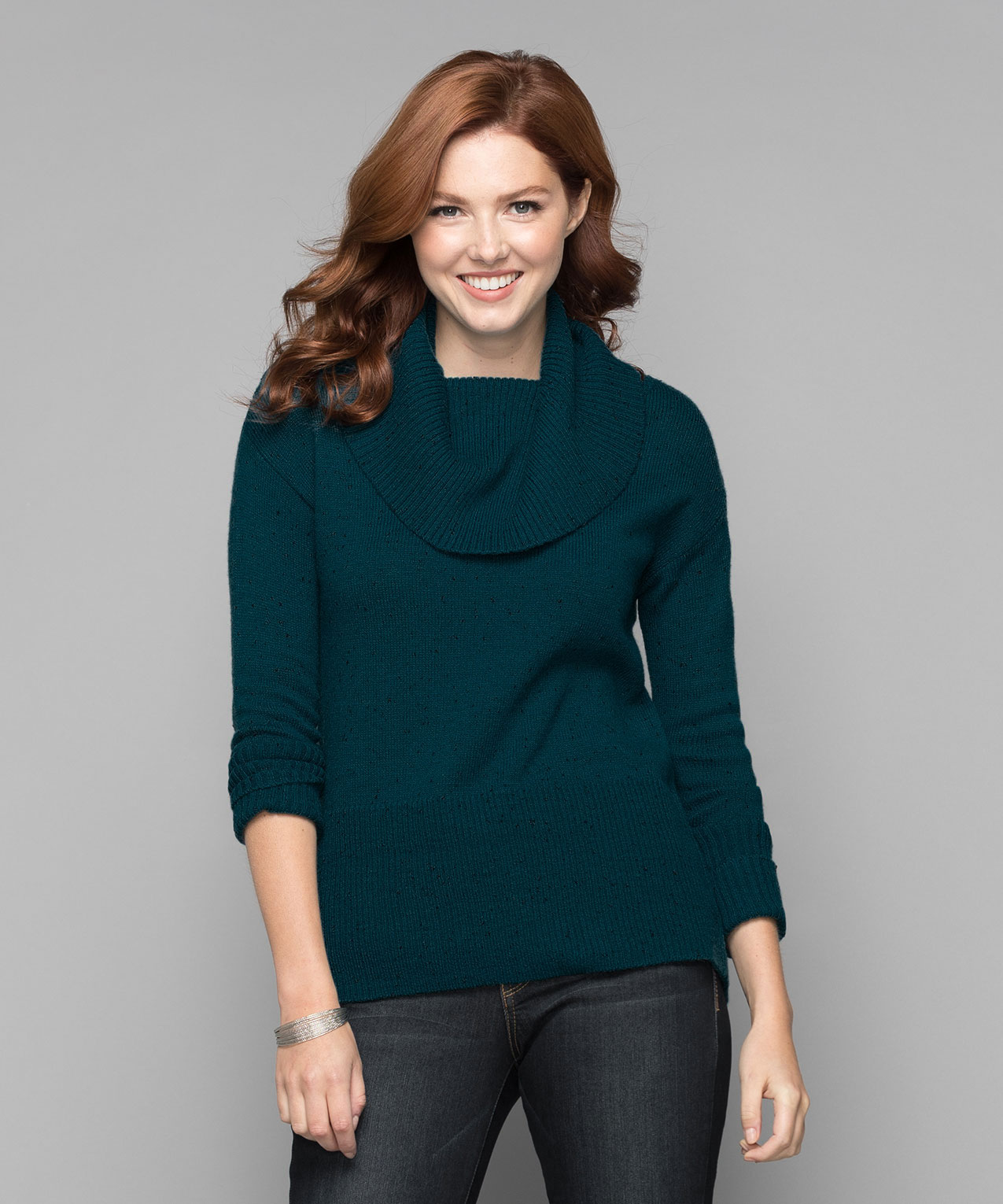 476276919d1 ... Ribbed Cowl Neck Pullover Sweater