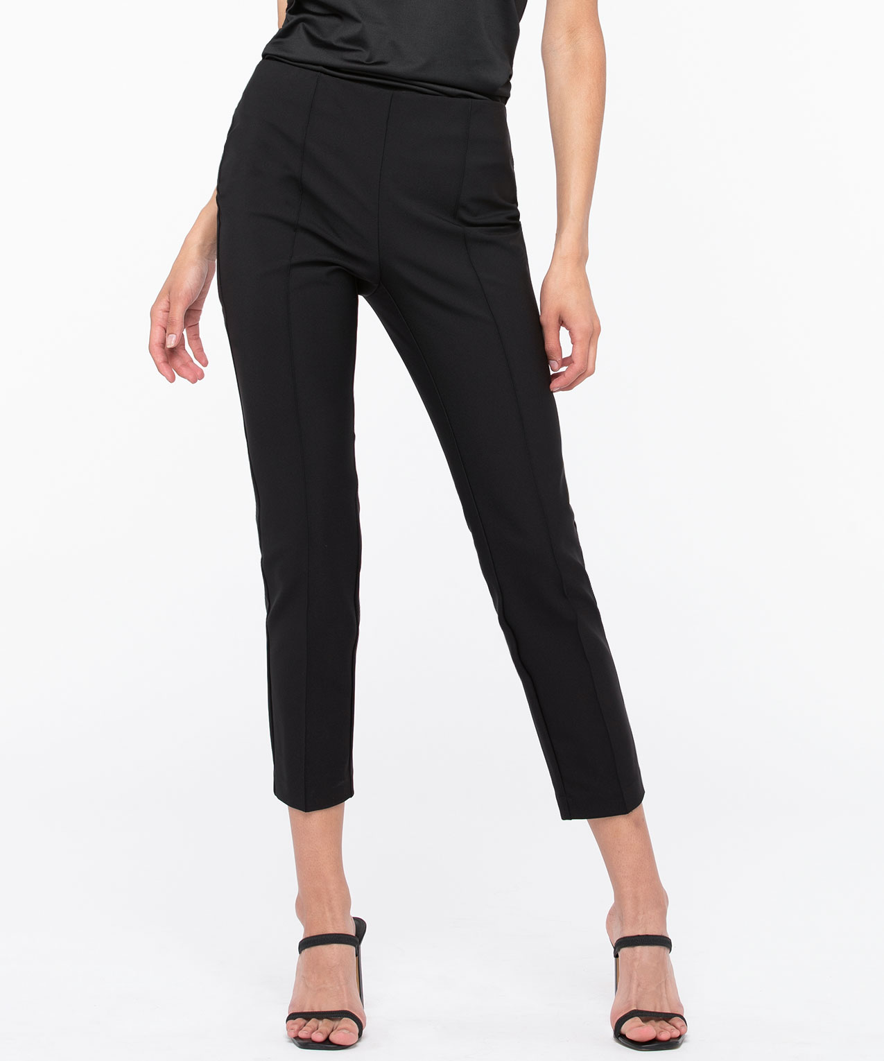 Pull On Slim Ankle Pant, Black, hi-res