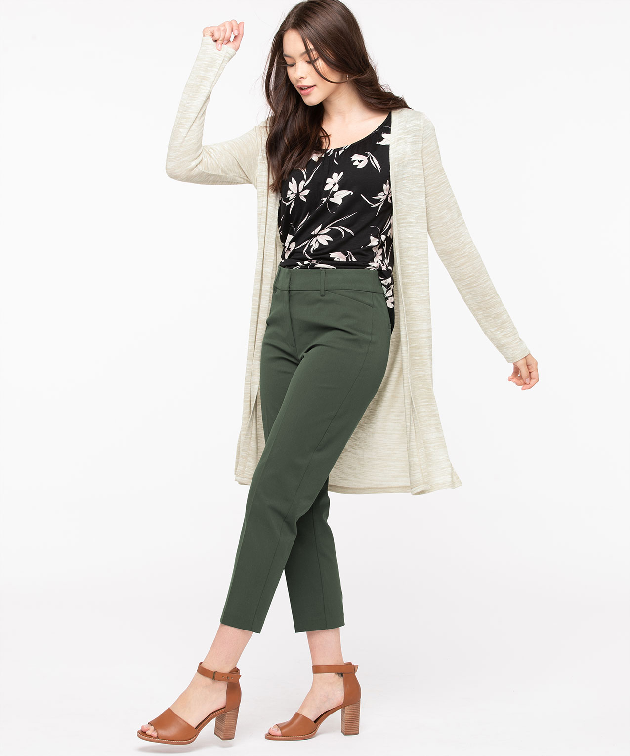 Long Sleeve Duster Cardigan, Sand Mix, hi-res