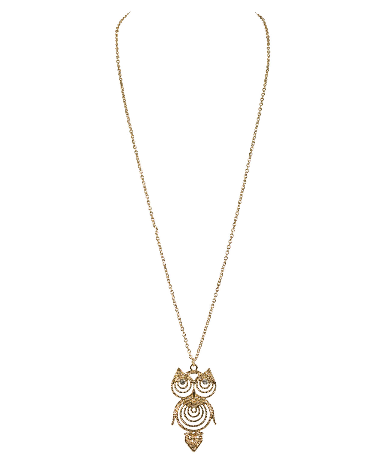 Filigree Owl Necklace Rickis