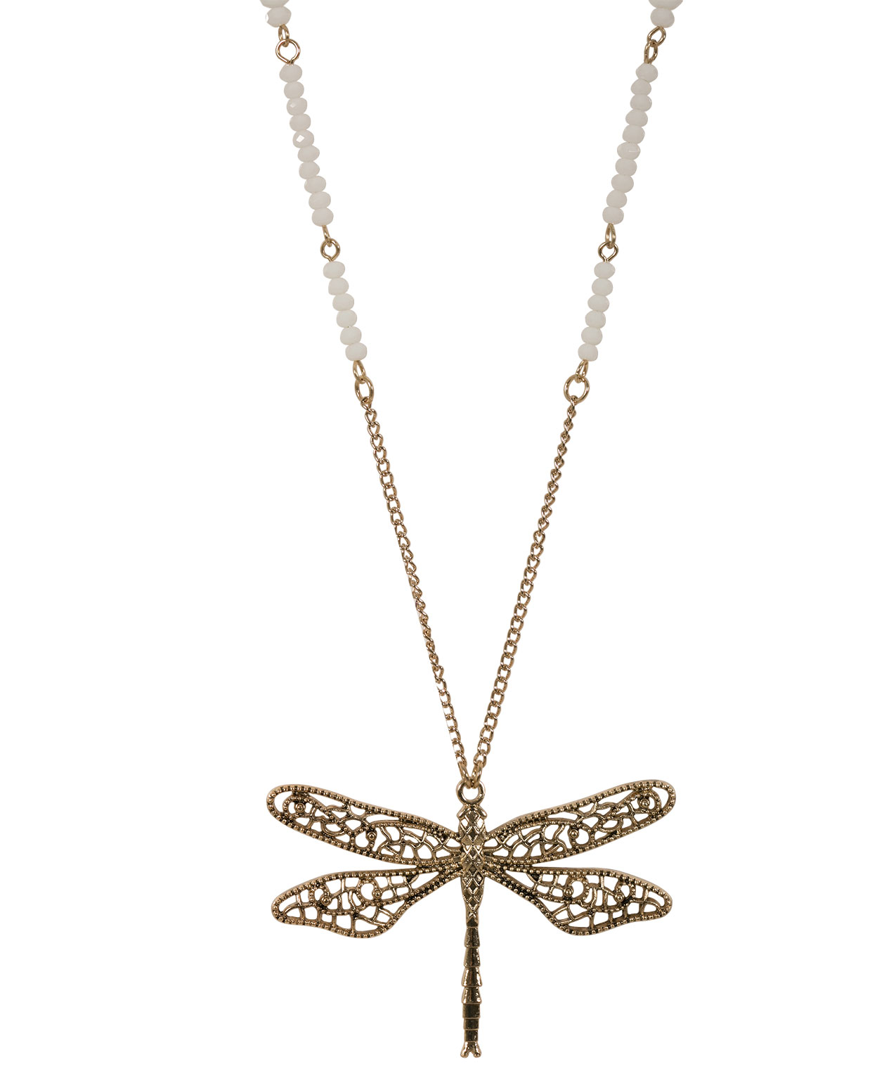 necklace and producto edit dragonfly crystal