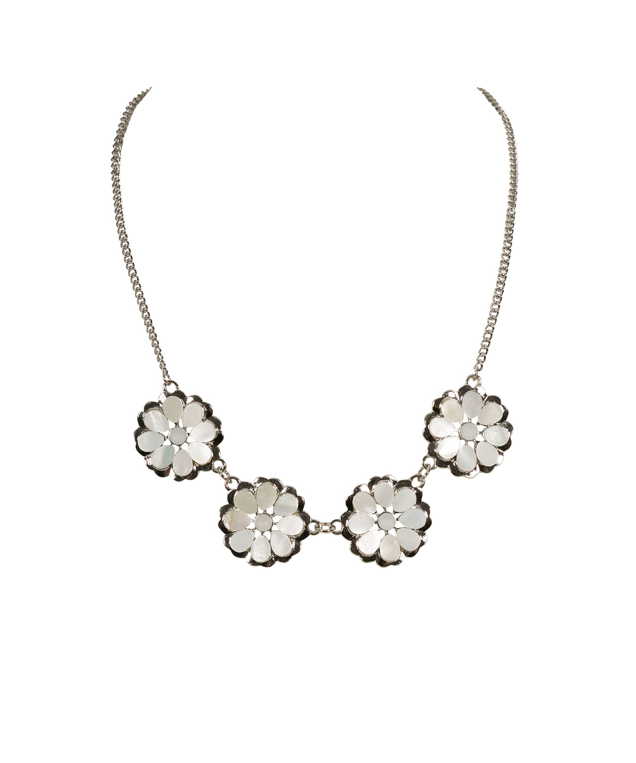 Shell Flower Statement Necklace Rickis