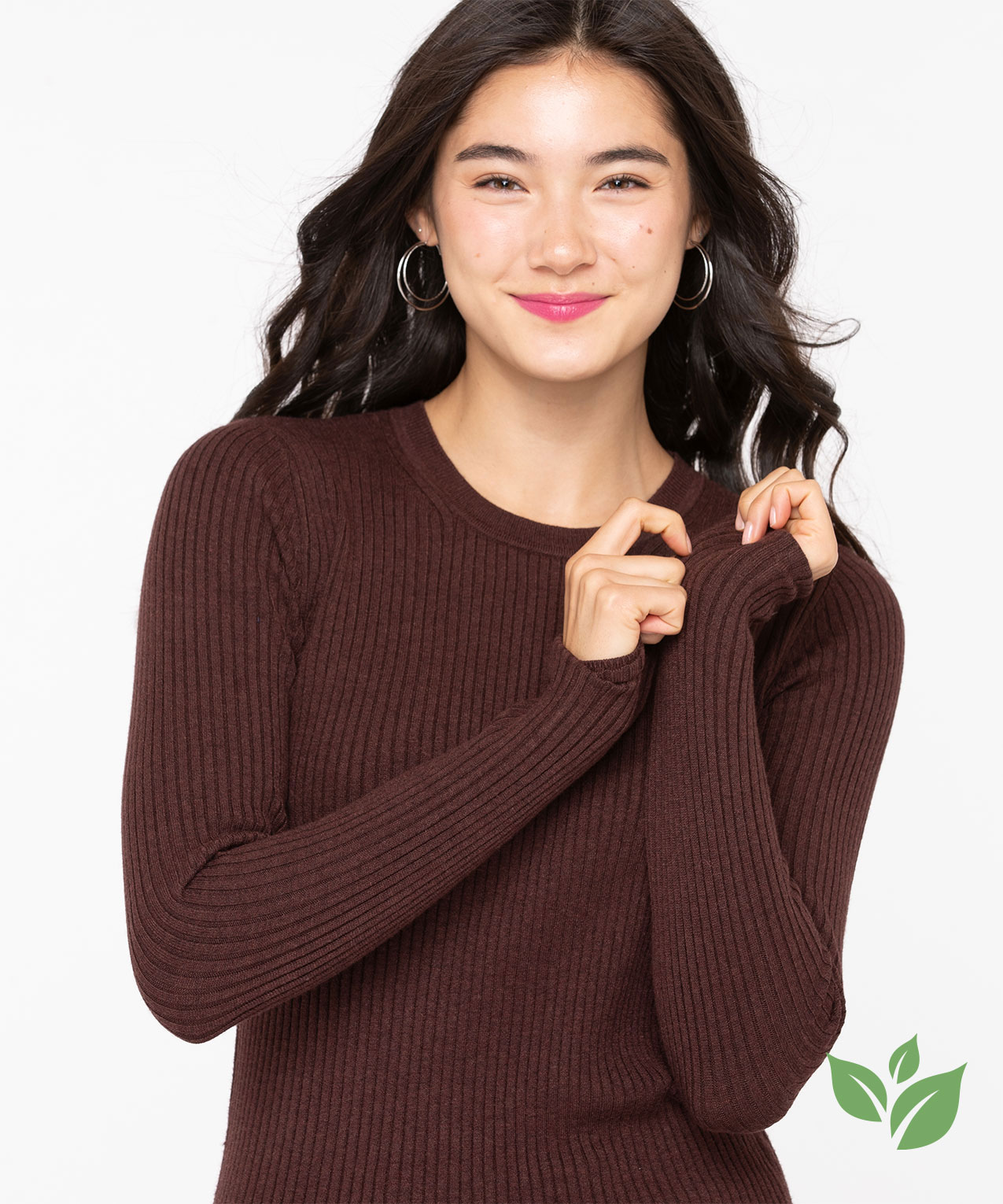 EcoVero™ Crew Neck Sweater, Toffee, hi-res