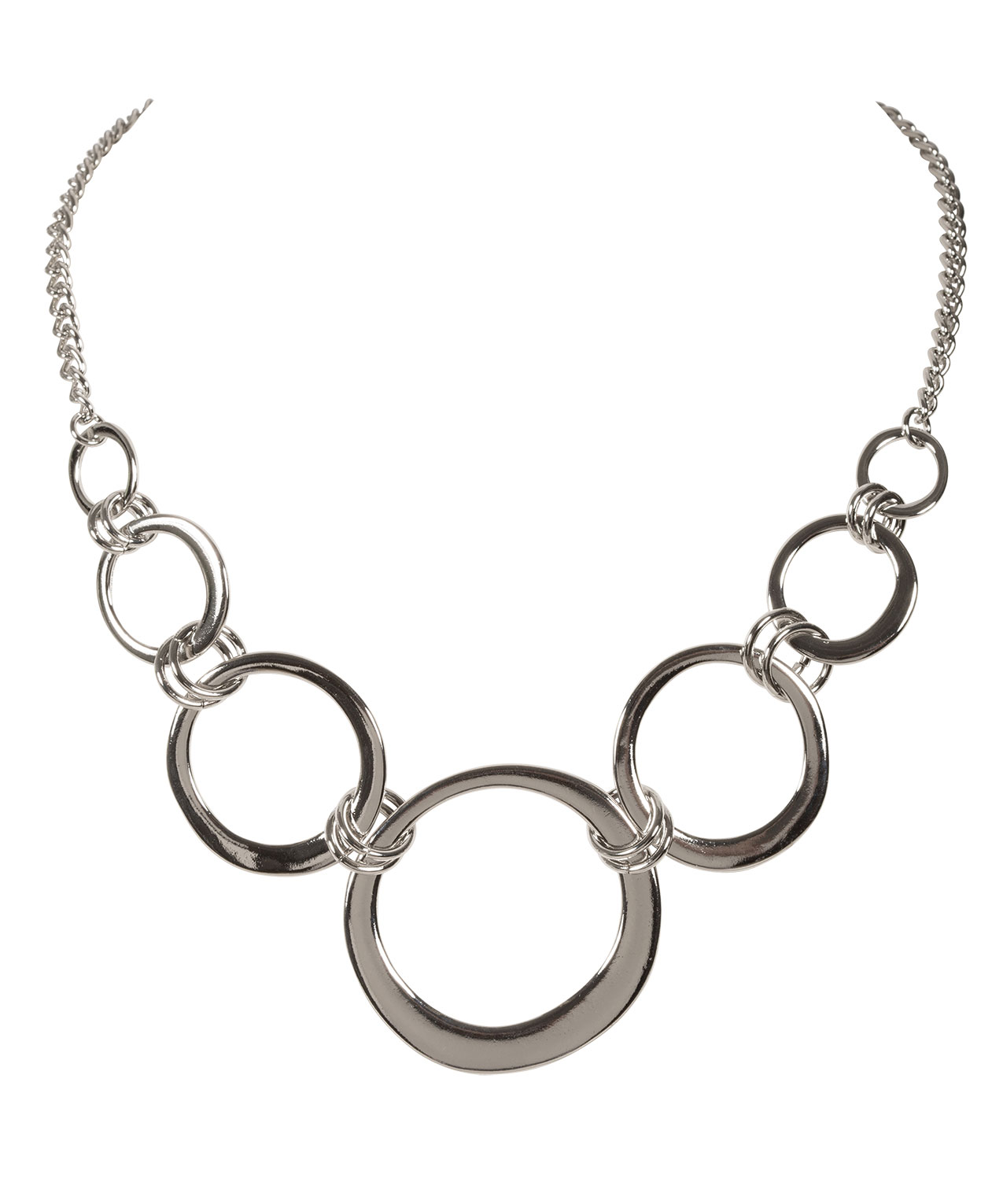 simple rhodium necklace rickis res statement hi circle