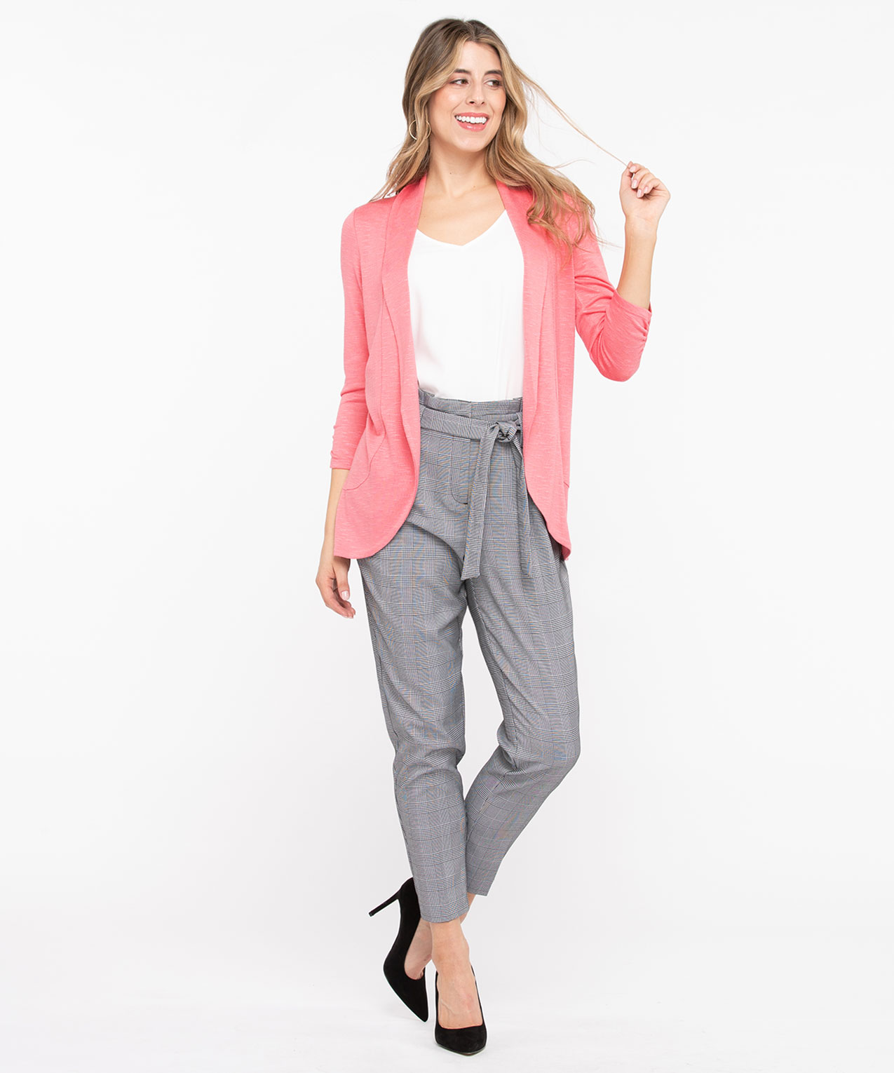 Shawl Collar Cardigan, Bellini, hi-res