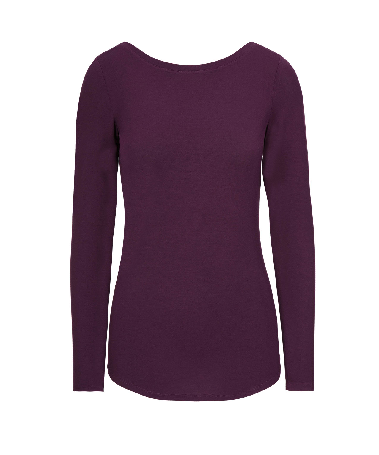 cc507a03a3 Boatneck Layering Essential Top | Amethyst | Rickis