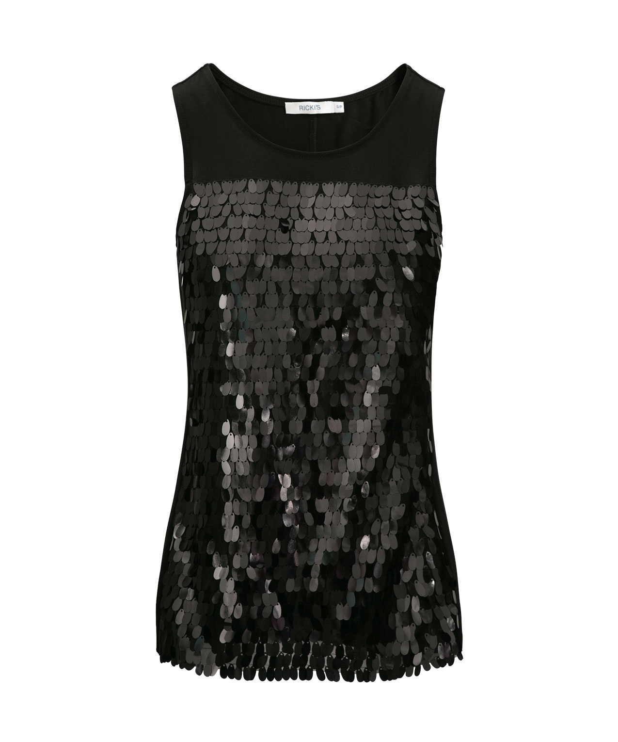 9f49d7fdc5400 Sleeveless Sequin Front Top
