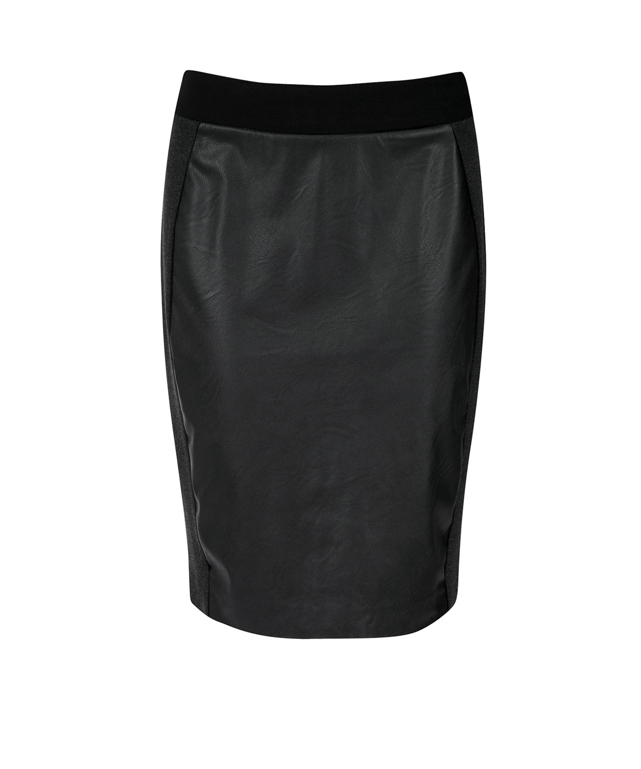 pleather front ponte pencil skirt rickis