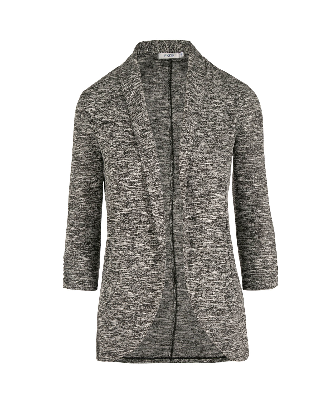 Shawl Collar Cardigan, Black/White, hi-res