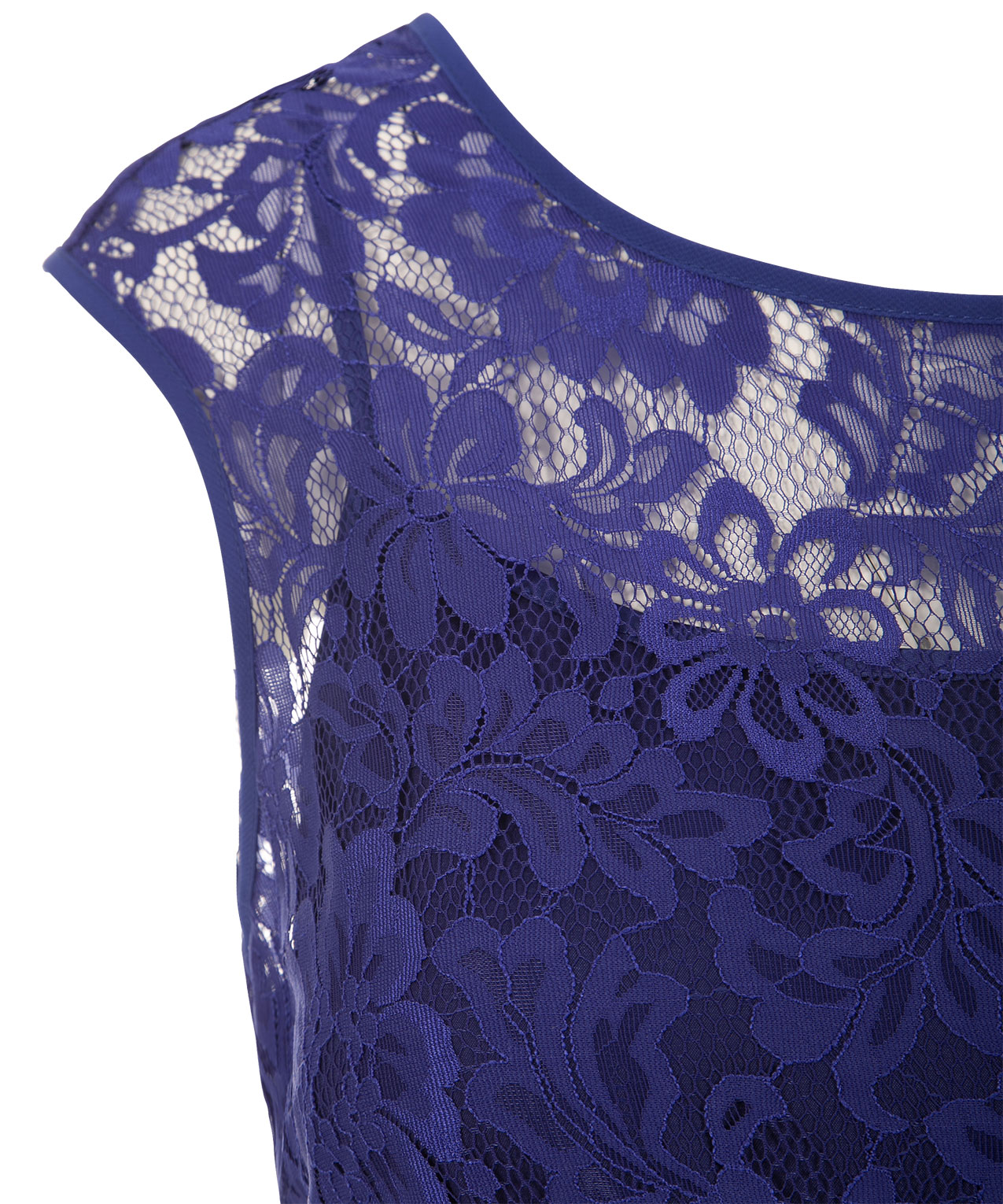 Lace Bodice Jewel Dress, Royal Blue, Hi Res