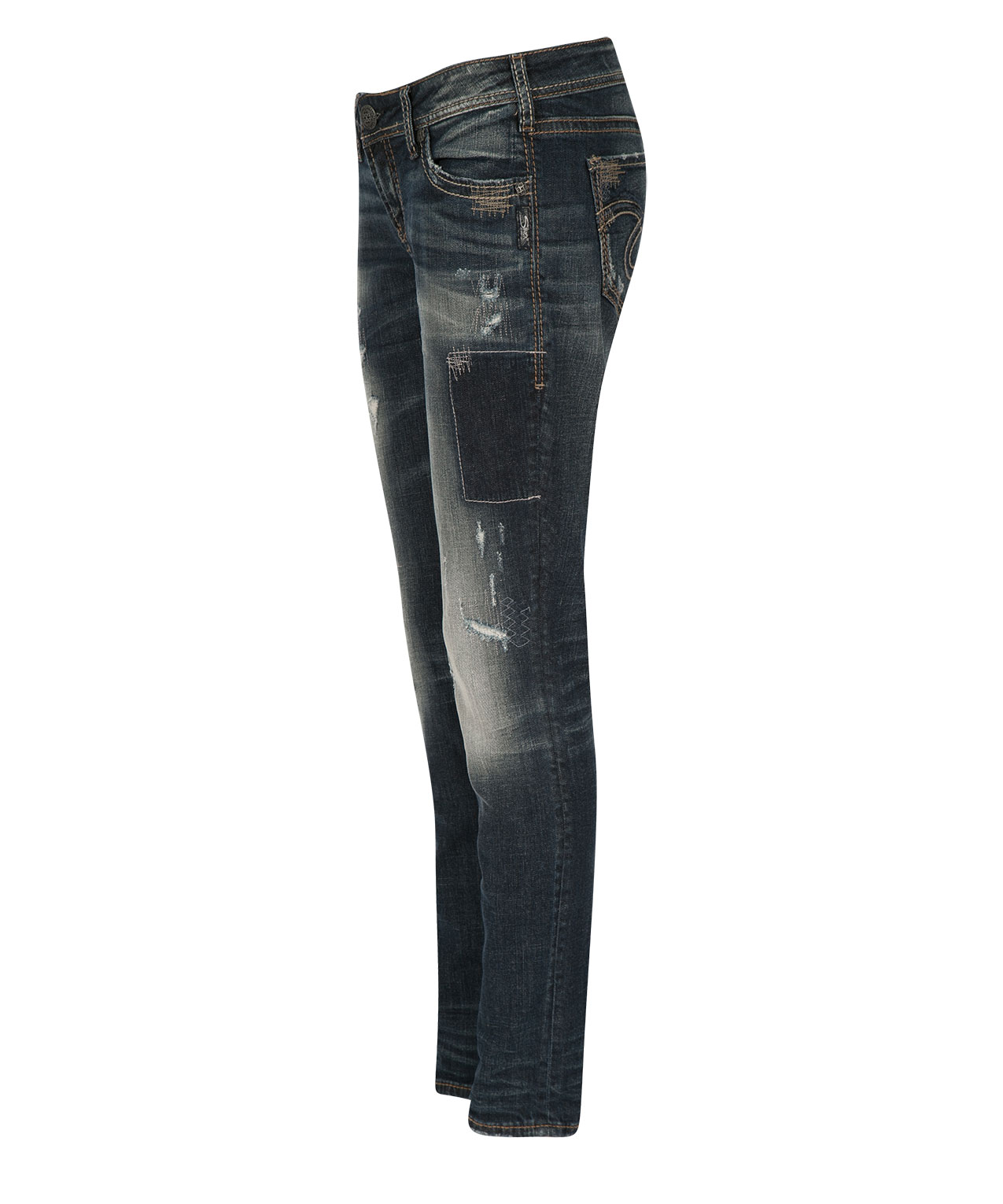 Silver Jeans Co. Aiko Patchwork Skinny Jean | Rickis