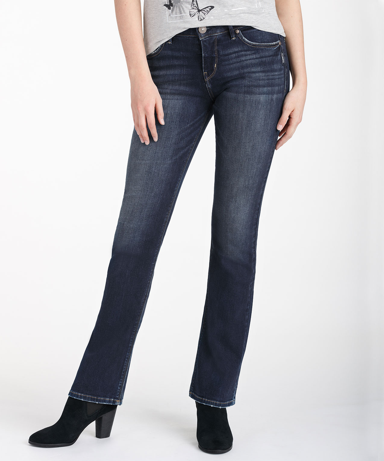 13ddc27d Silver Jeans Co. Avery Slim Bootcut Jean, Dark Wash, hi-res