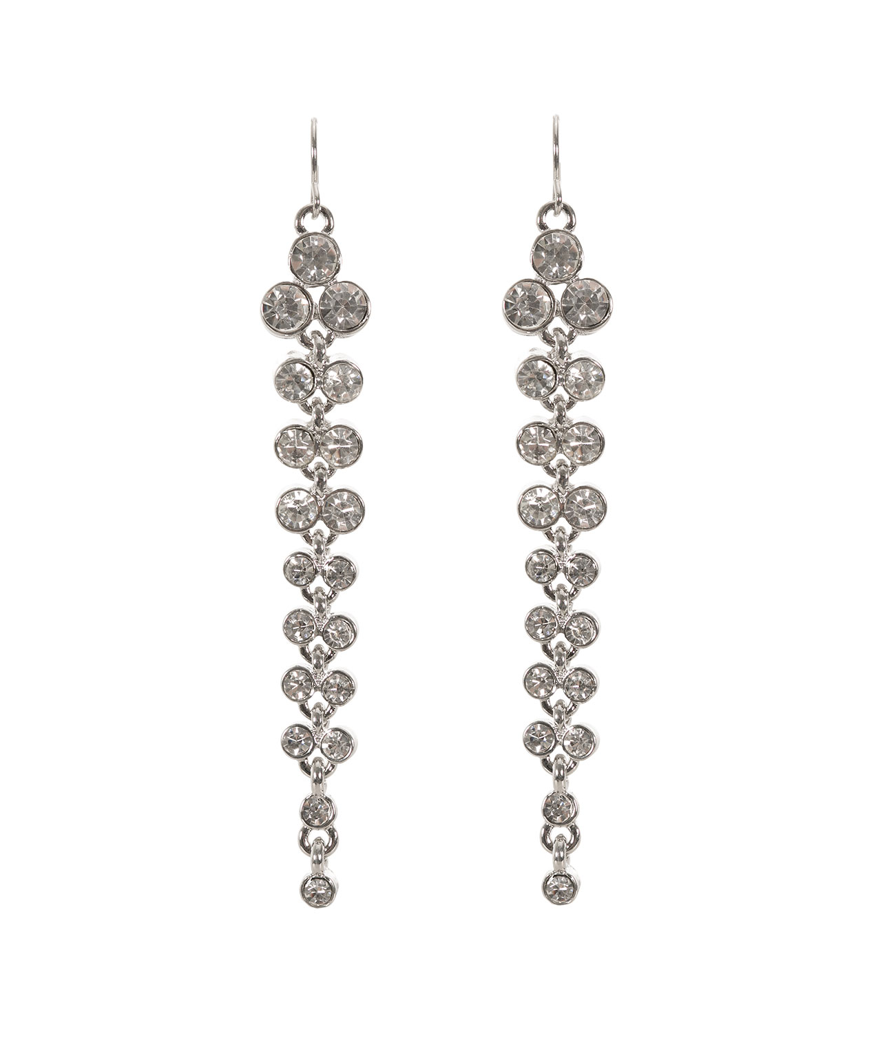 Long Crystal Earring Rhodium Hi Res