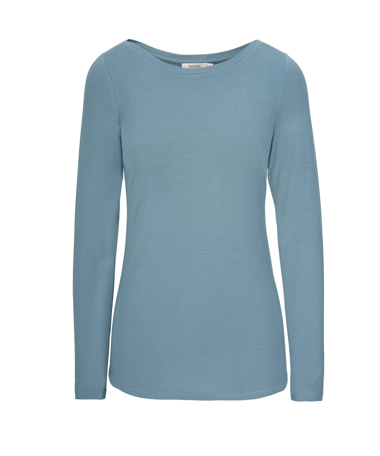 Boatneck Layering Essential Top, Lake Blue, hi-res
