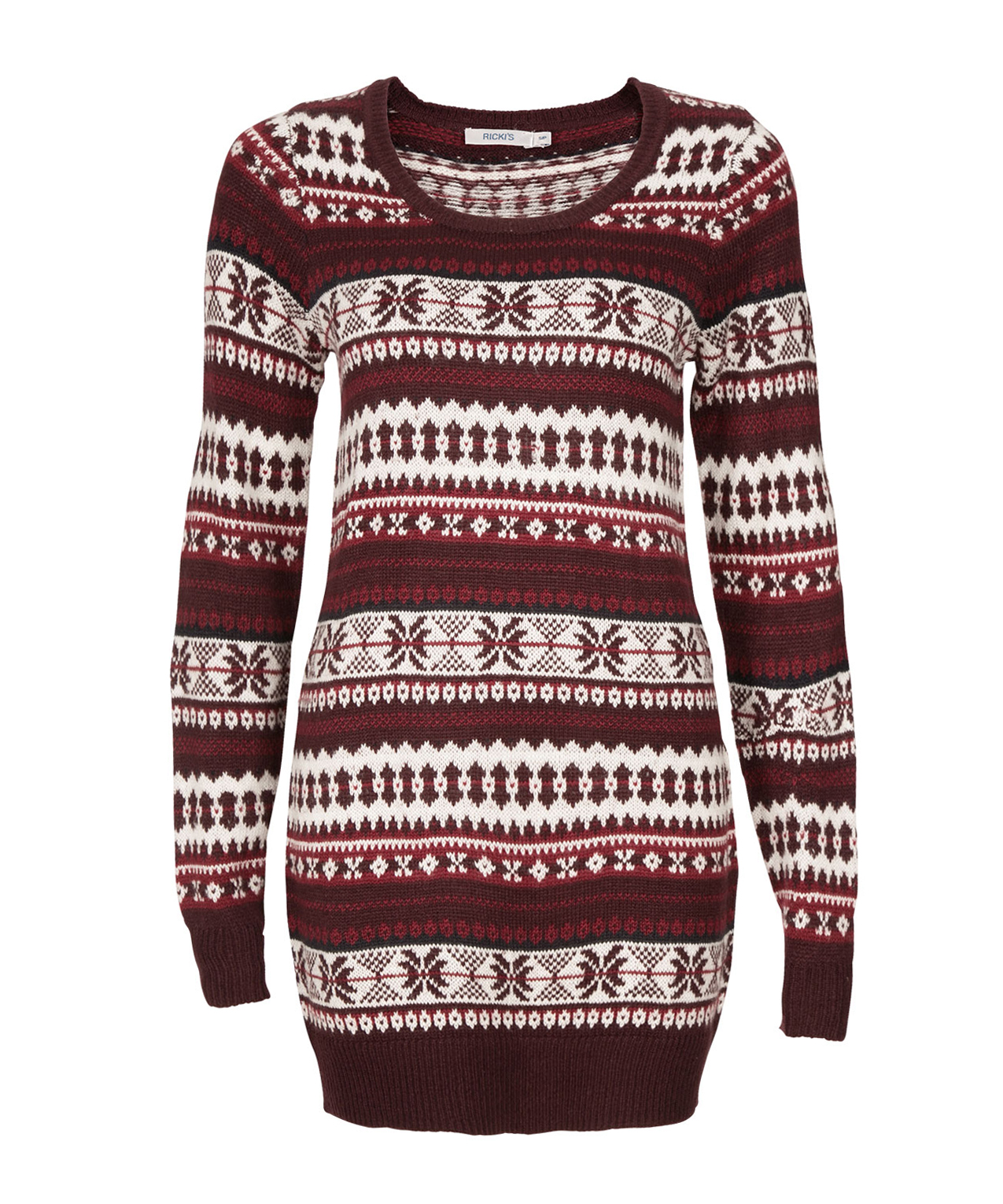 Cozy Fairisle Sweater Tunic | Rickis