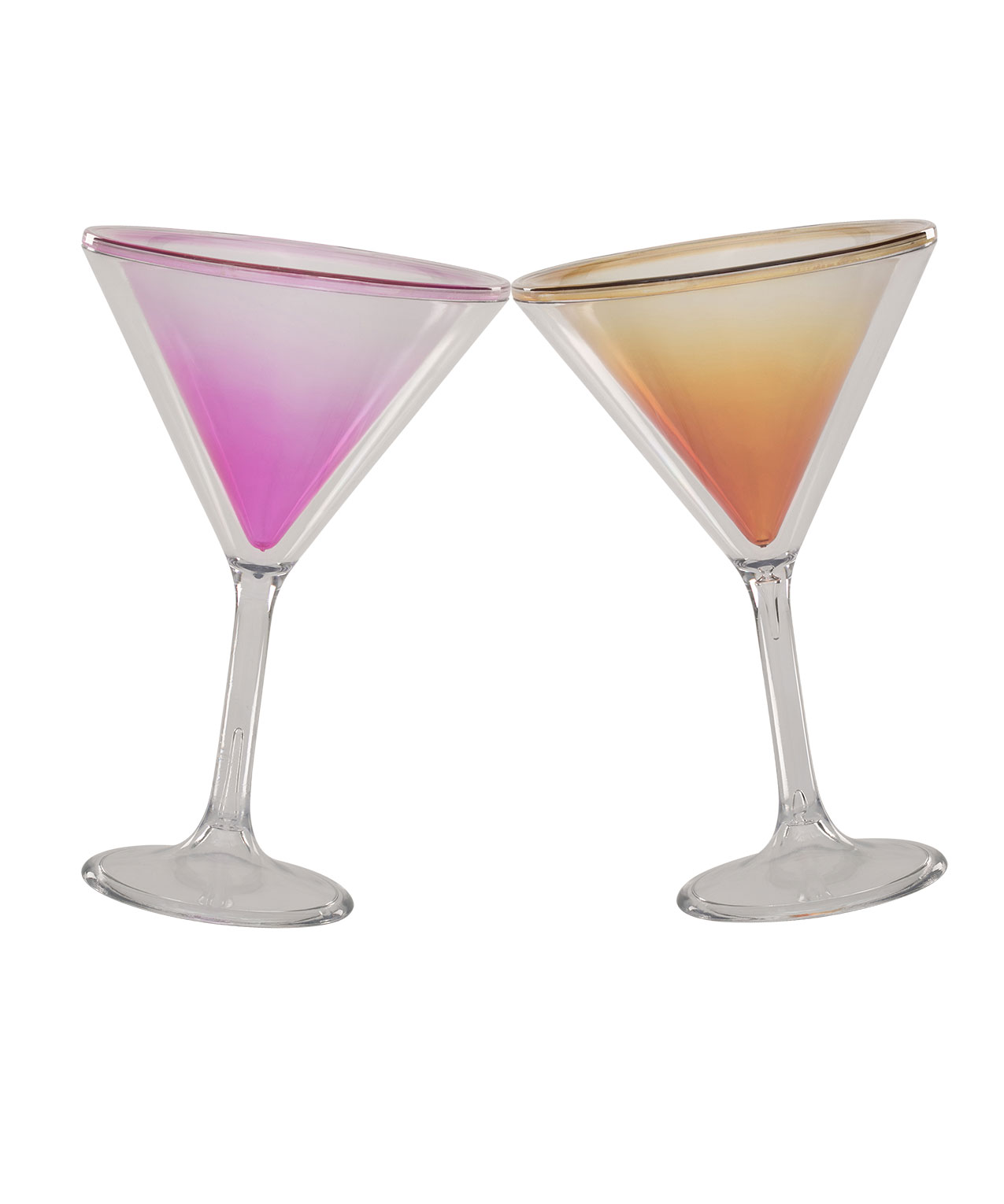 Plastic Tropical Cocktail Set, Pinkyellowclear, Hi Res