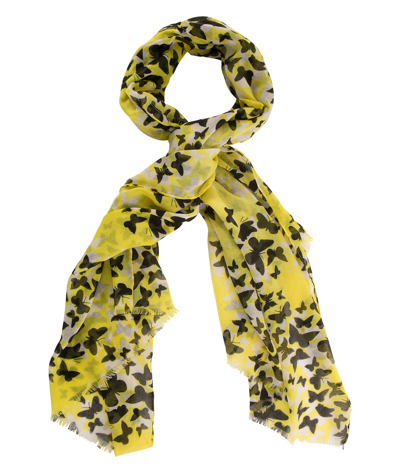 yellow butterfly scarf rickis