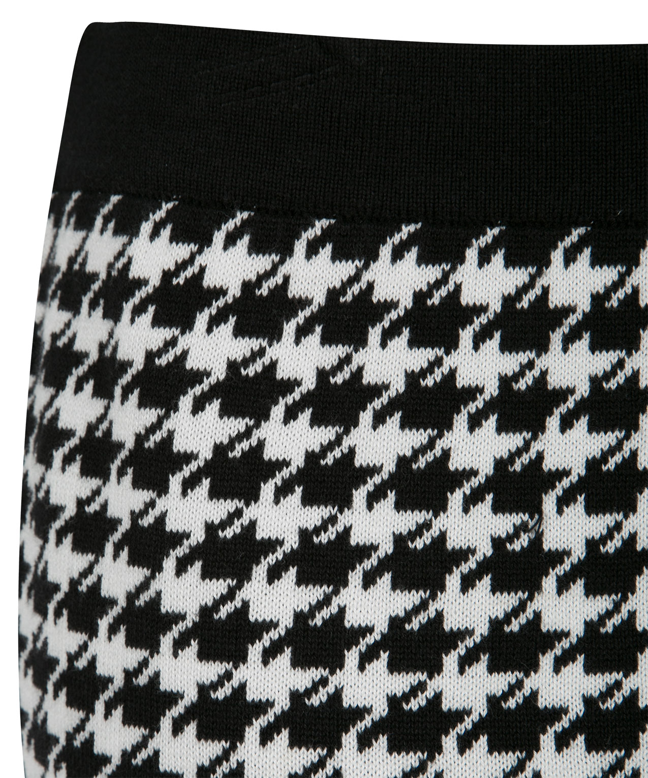 Houndstooth Sweater Knit Skirt Rickis