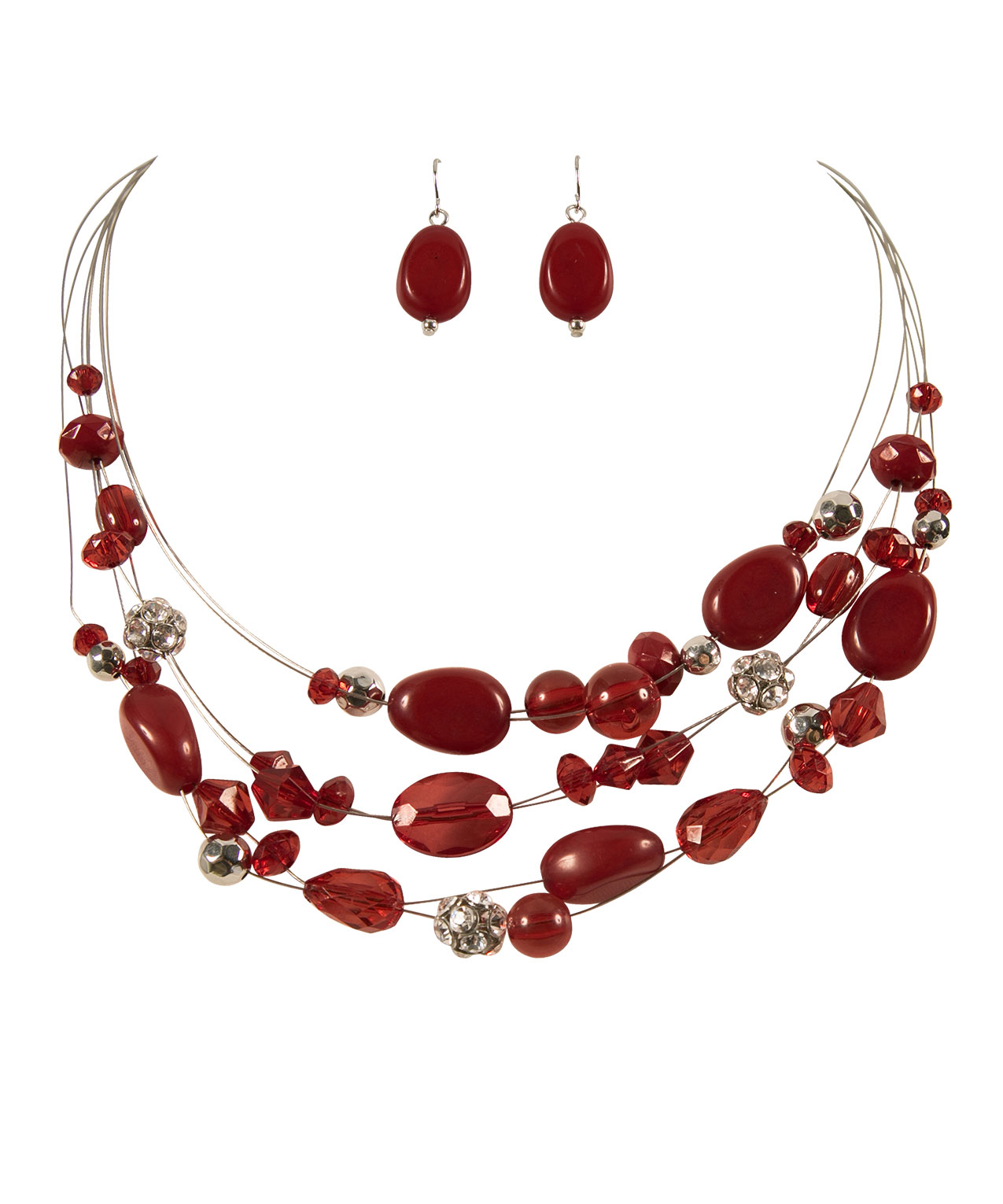 crimson red jewellery etta chunky oliver necklace knitted bonas chain
