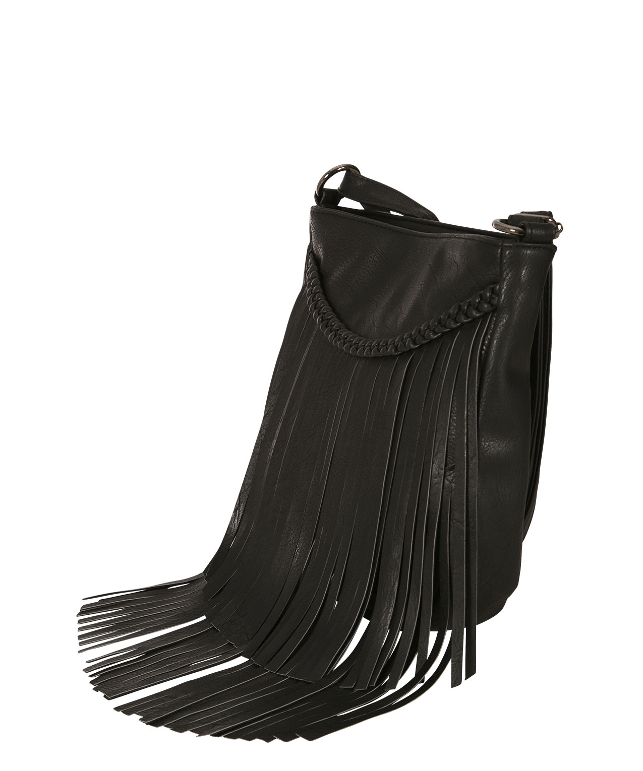 Fringe Crossbody Bag Black Hi Res