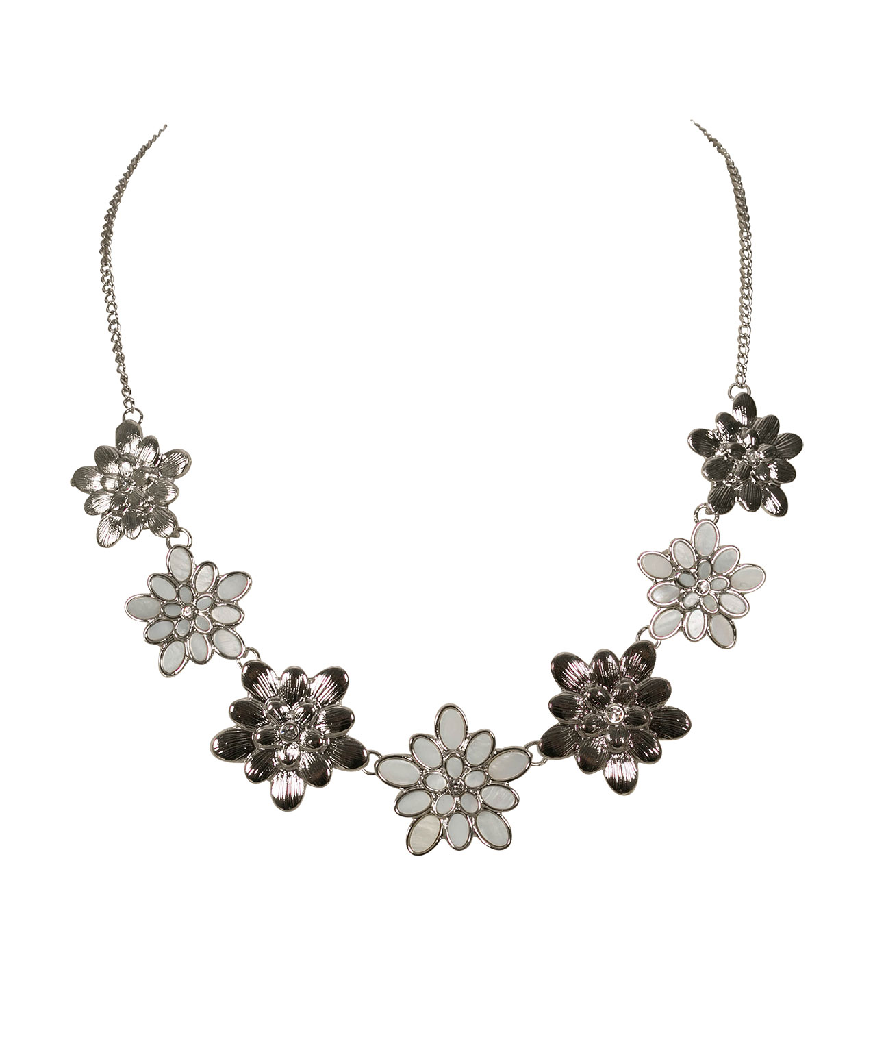 Stationed Flower Statement Necklace Rickis