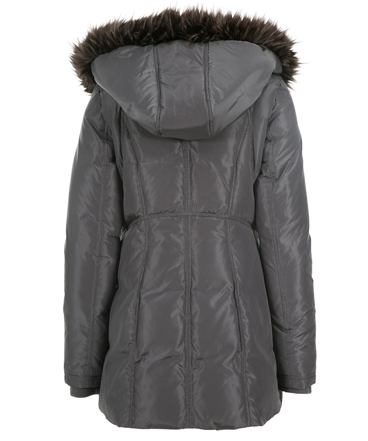 Fur Trim Hood Puffer Coat