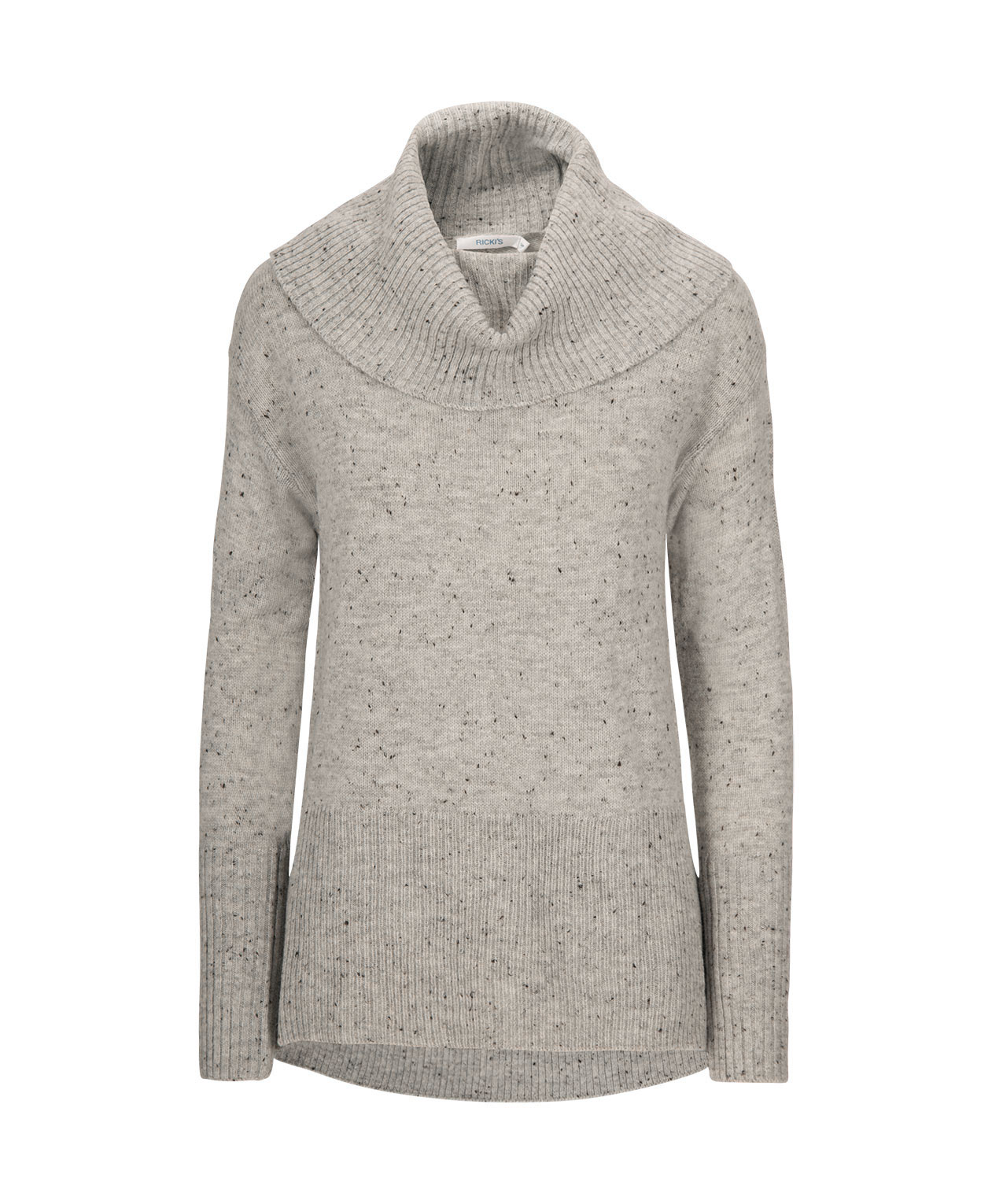 f02c337865b Ribbed Cowl Neck Pullover Sweater