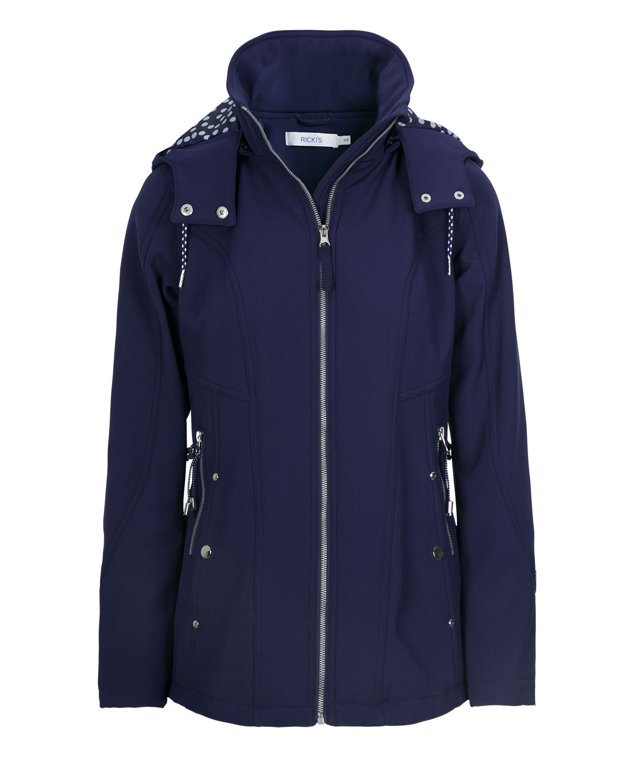 Hooded Soft Shell Anorak, Deep Sapphire, hi-res