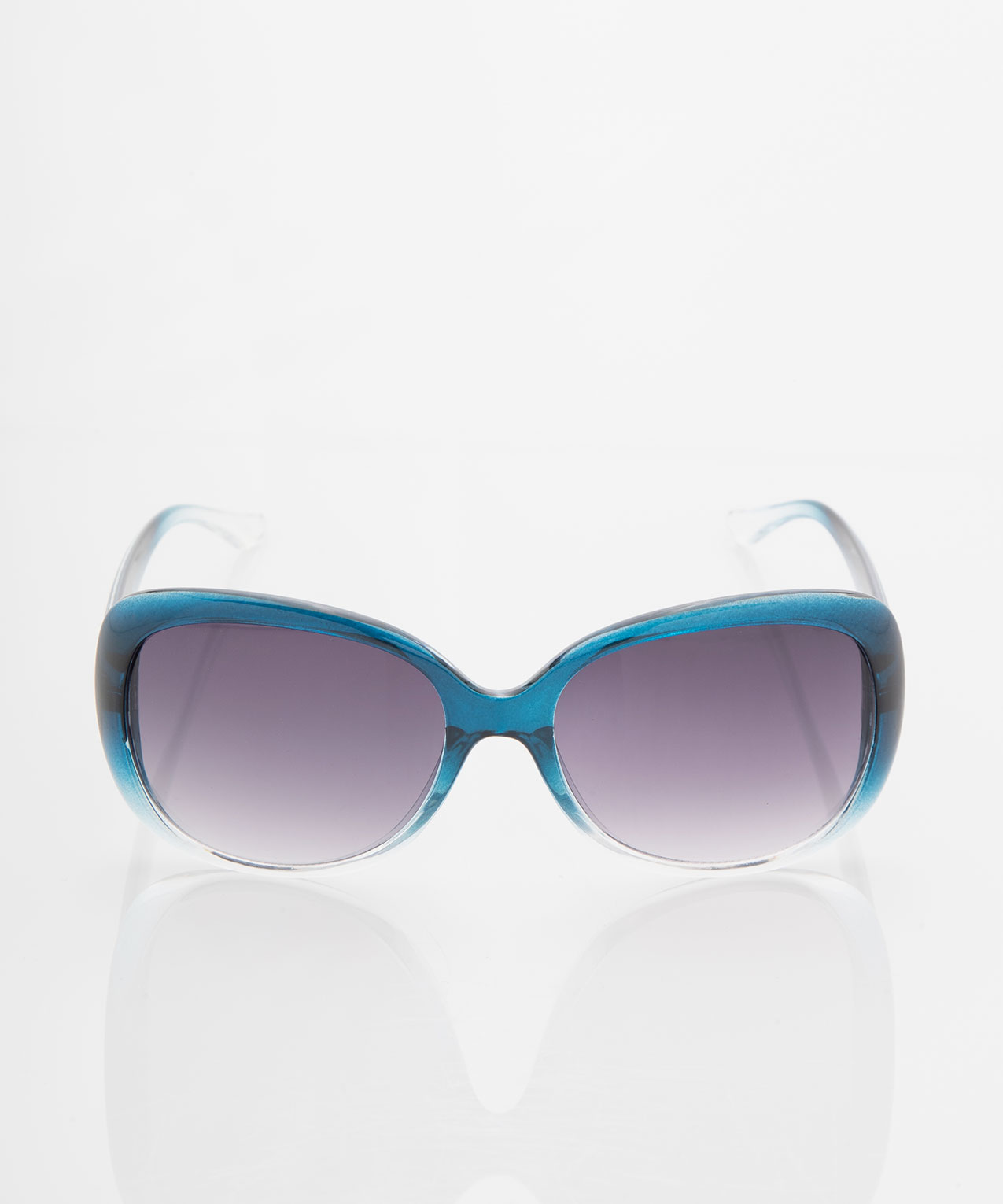 Ombre Square Frame Sunglasses, Midnight Teal, hi-res