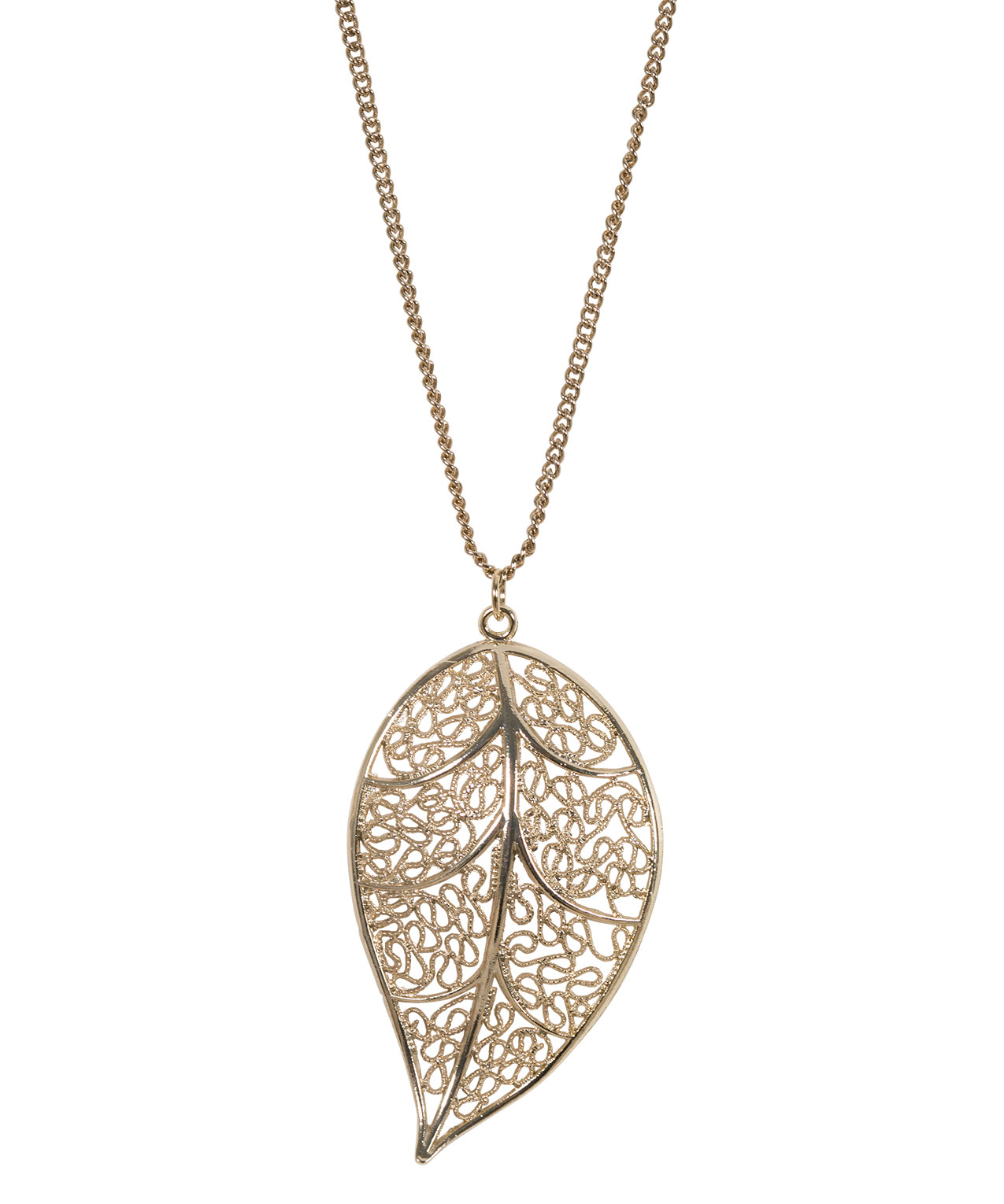 rickis res necklace leaf gold hi pendant soft