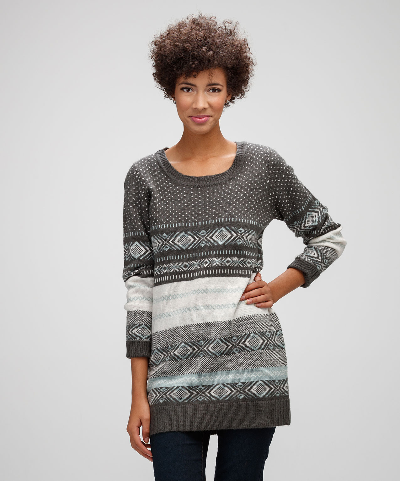 Fairisle Tunic Sweater | Rickis