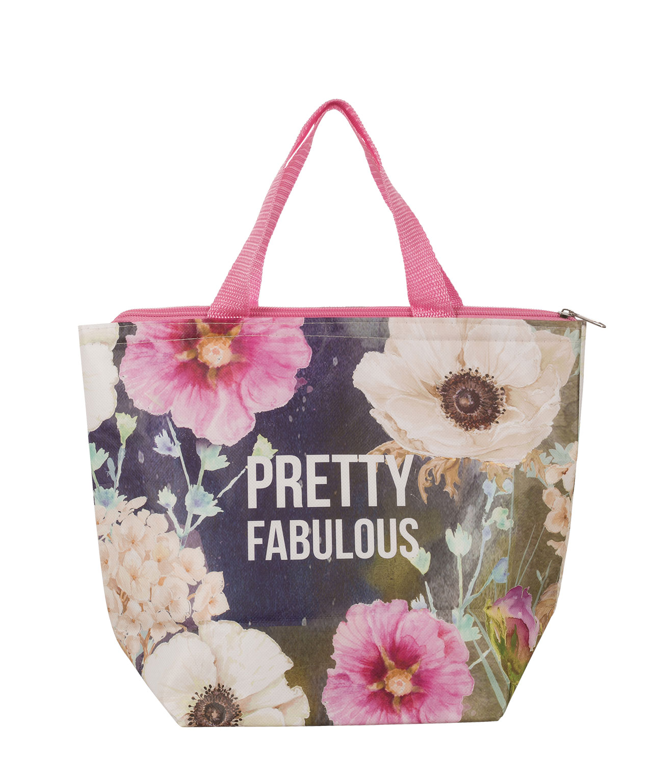 Pretty Fabulous Lunch Tote Navy Pink Hi Res