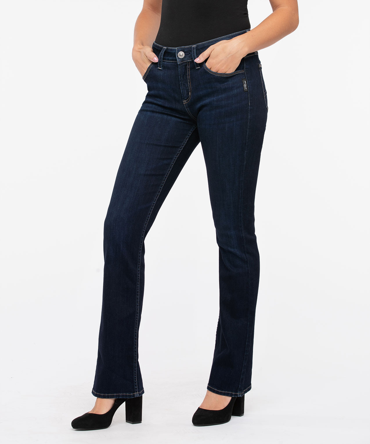 Silver Jeans Co. Avery High Rise Bootcut, Dark Blue, hi-res