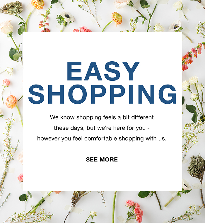 easy shopping landing page