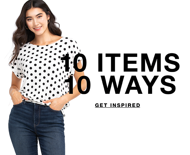 10 items 10 ways shop the line up